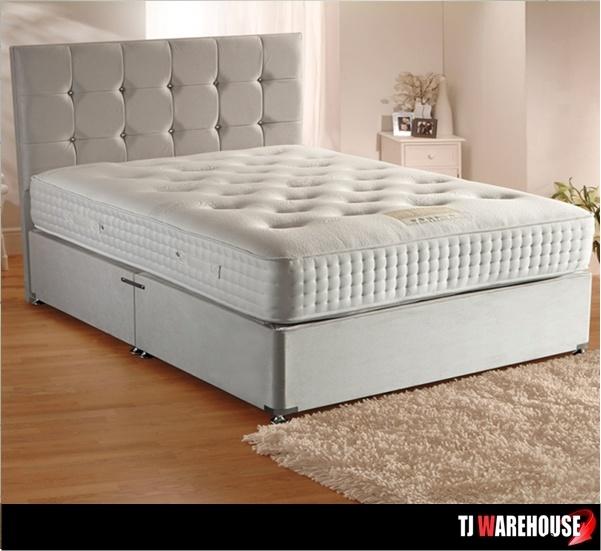 Affordable luxury grande luxe divan set for Pocket sprung divan set