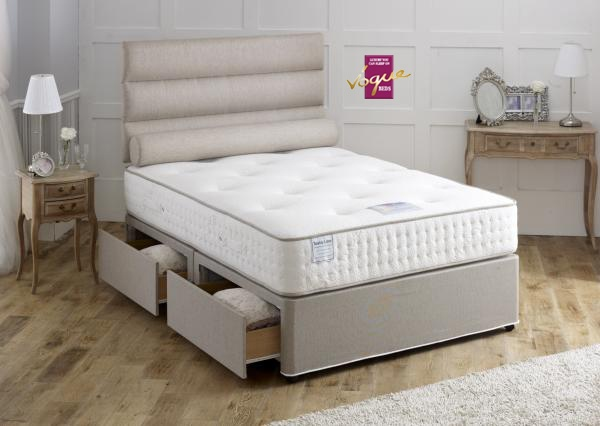 Earl Latex 1000 Sprung Divan Set With Free Storage Introductory Offer