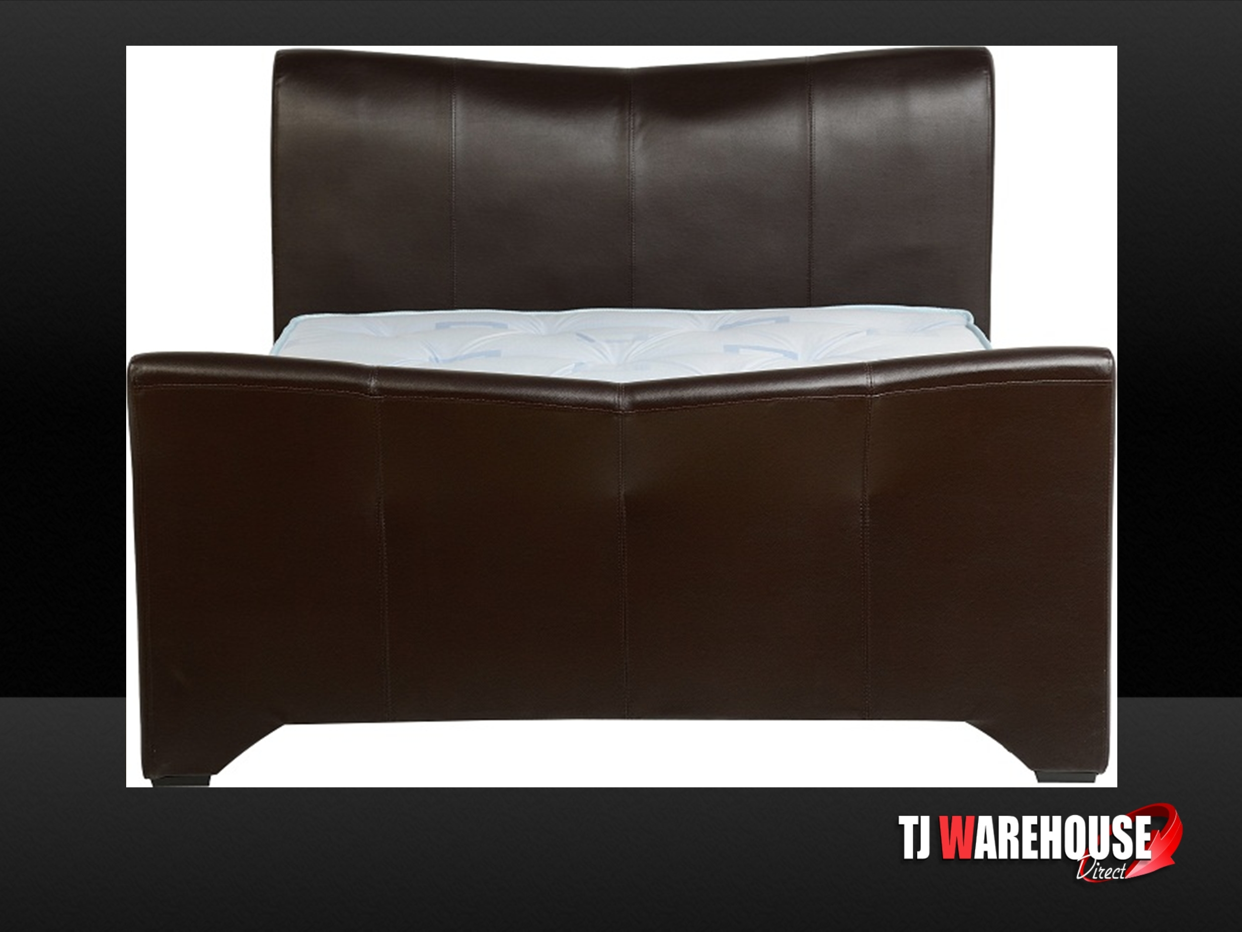Dark Brown Leather Bed Frame 2500 x 1875