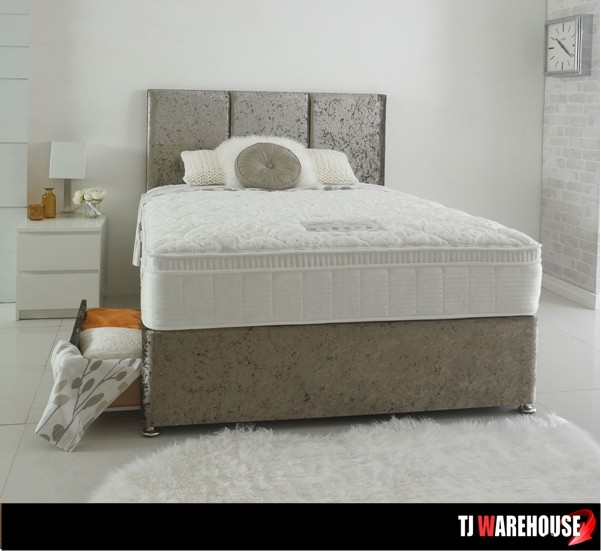 Dura celebration divan bed set from 299 sale now on for Pocket sprung divan set