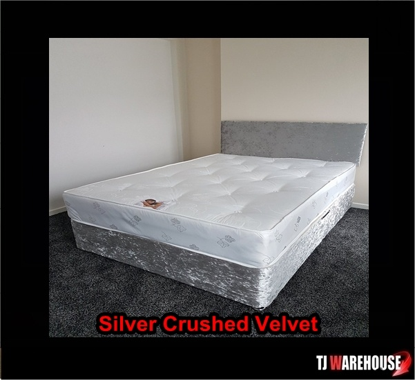 Double divan bed with headboard save 200 for Cheap double divan