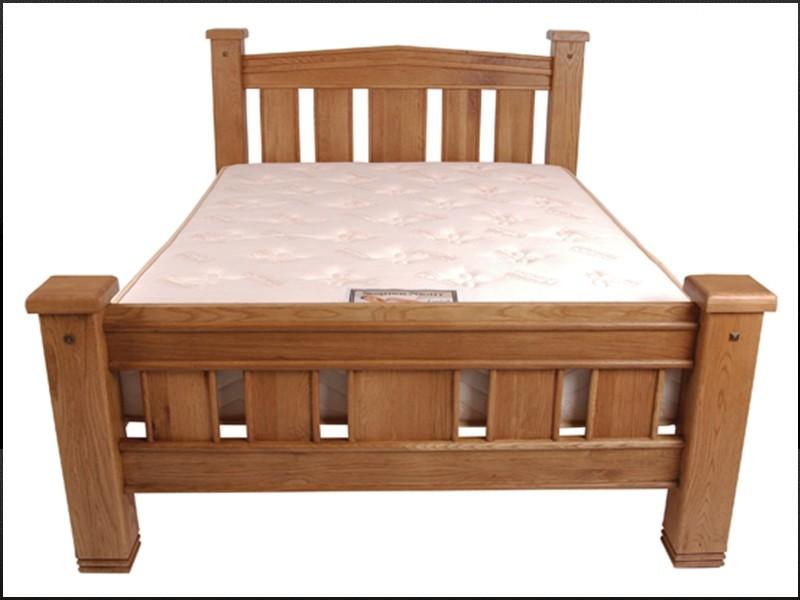 michigan solid oak bed frame - Oak Bed Frame