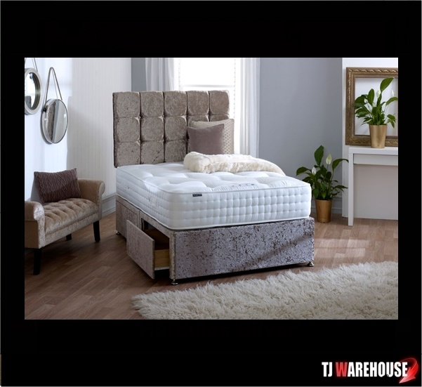 1500 Platinum Winter Summer Divan With Free Headboard And Drawers