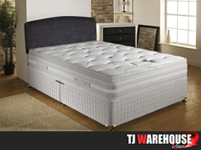 panache divan set with memory foam mattress