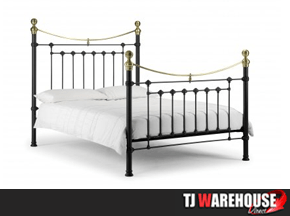 Julian Bowen Victoria Bedstead in black and gold